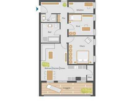 Exclusive 4-Zimmerwohnung mit Loggia
