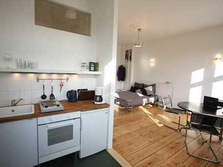 Sonnige 1-Zimmer-Wohnung mit freiem Blick über Baumkronen nahe Leon-Jessel-Platz