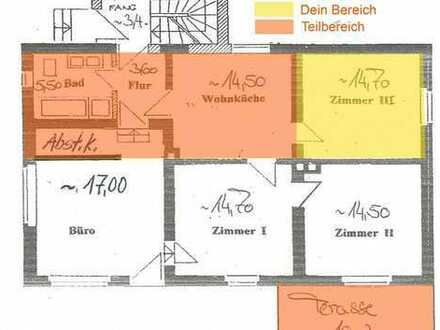 15qm Zimmer + 36qm Zusatz (Terasse/Wohnküche/Kammer...)