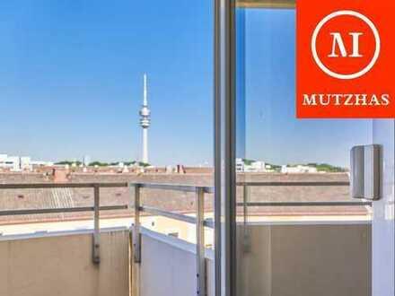 MUTZHAS - Blick auf den Olympiaberg und Olympiaturm - Wohnung in Schwabing am Luitpoldpark