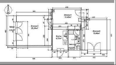 [möbliert] helle 2,5 ZKB,EBK, Balkon, Keller, zentral gelegen