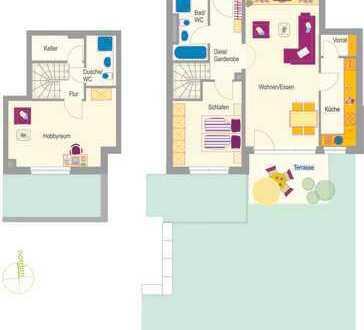 Erstbezug - Komplett möblierte 3,5 Zimmer Wohnung mit großem Garten!