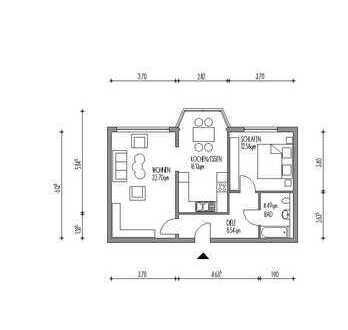 Helle und gepflegte 2-Zimmer-Wohnung mit großer Essküche in Hamm-Süden!