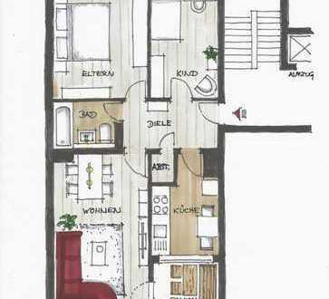 Schicke 3-Zimmer-Wohnung Frankenberger Viertel,