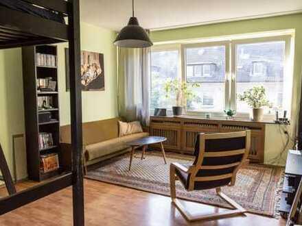 Hervorragend geschnittene 2-Zimmer-Wohnung mit großem Balkon in zentraler Lage