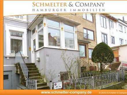 Wohnen und arbeiten im Eigenheim: Zentral gelegenes Stadthaus mit Garten-Remise