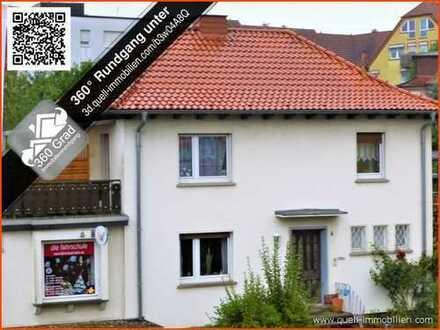 Stadthaus mit sep. Büro-Wohntrakt, voll unterkellert, Garten, 60 m² Dachterrasse in Hünfeld-Stadt