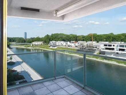 LUIT_PORT am Rheinufer Süd: Extravagante 4 Zi.-ETW mit Blick auf den Luitpoldhafen