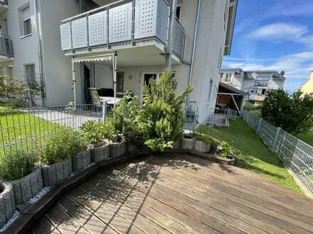 Sonnige 5-Zimmer Maisonette Whg mit schöner Erdterrasse und Garten
