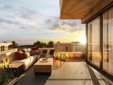 2-Zimmer-Penthauswohnung mit Dachterrasse und offenem Wohn-/Essbereich