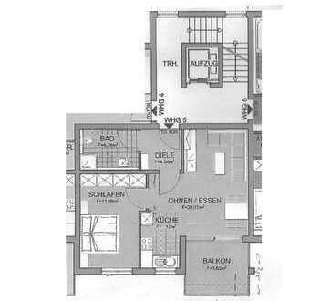 Neuwertige 2-Zimmer-Wohnung mit Balkon und Einbauküche in Kirchheim-Jesingen.