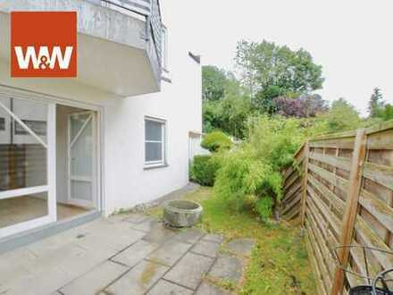 Nette 2-Zimmer-Wohnung mit Terrasse und kleinem Gartenanteil