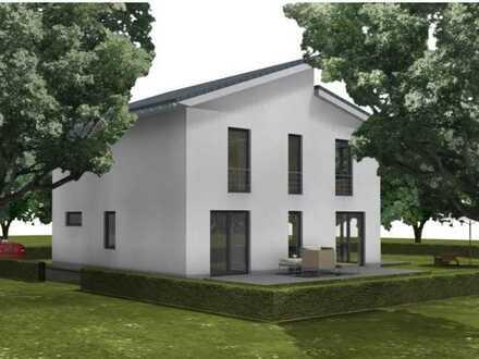 Bauen mit Elbe-Haus® großzügiges Pultdachhaus auf einem der letzten Grundstücke in Mechernich
