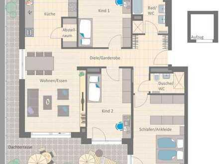 Top-Penthouse: Sonnendomizil mit umlaufender Dachterrasse!
