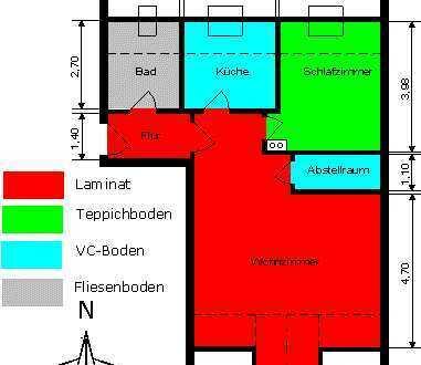 2-ZKB Dachgeschoss Wohnung 65qm in Herbertshofen