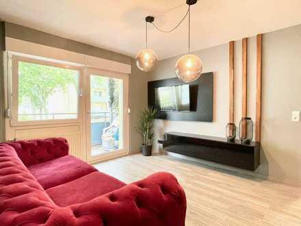 Möblierte Design-Wohnung im Grünen mit Balkon