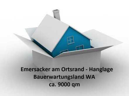 Emersacker 9000 qm Hanglage WA Bauerwartungsland