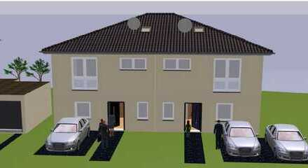 Moderne, neue Doppelhaushälfte im Neubaugebiet Roter Rain, Haus 1, kurzfristig bezugsfertig