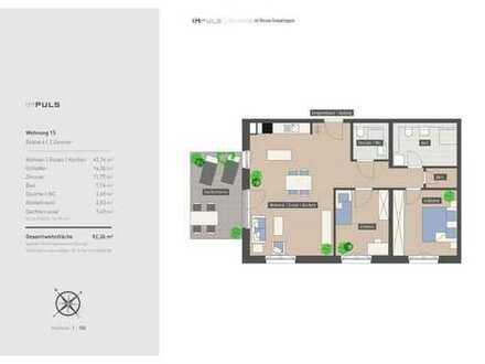 Großzügige 3-Zimmerwohnung mit Dachterrasse