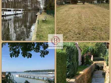 Großes Grundstück am Wasser/ Rhinkanal in Lindow/Mark
