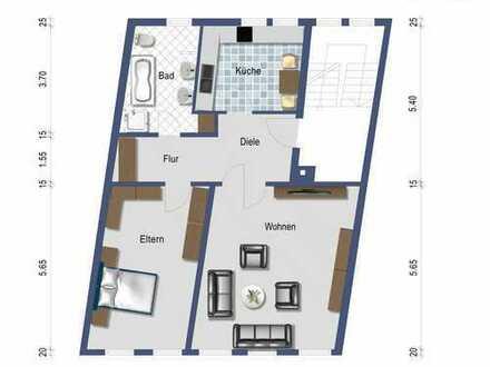 Geräumige 5-Zimmerwohnung mit Garten in Lamspringe