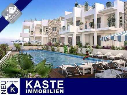 1A-Strandlage, Top-Design mit Dachterrasse & Meerblick - Penthouse auf Kreta im Erstbezug!