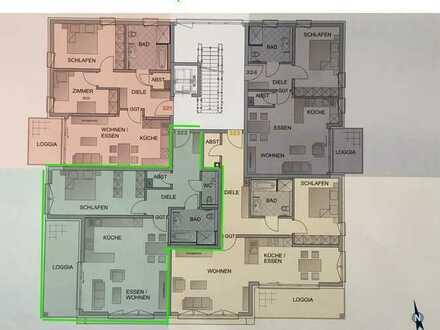 Erstbezug: schöne 2-Zimmer-Wohnung mit Balkon in Ottobeuren (Whg. 322)