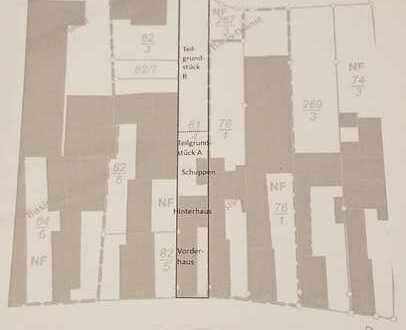 VERSTEIGERUNG - Vorder- und Hinterhaus (3 Wohneinheiten) inklusive Gartengrundstück