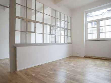 Wohnen und Arbeiten kombinieren - hohe Decken mit Industriecharme