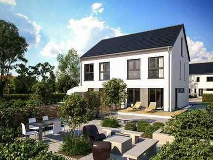 Wunderschöne großzügige Doppelhaushälfte schlüsselfertig auf Bodenplatte - freie Planung möglich