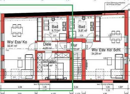 Erstbezug: ansprechende 2-Zimmer-Wohnung mit gehobener Innenausstattung zur Miete in Workerszell