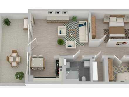Neubau! 3-Zi-Seniorenwohnung mit toller Weitblick-Terrasse und stufenlosem Zugang