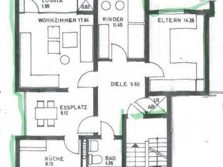 Gepflegte 3,5-Zimmer-Wohnung, uninah
