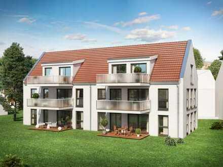 Neubau! Helle 3,5-Zi.-OG-Wohnung mit sonnigem Balkon und lichtdurchfluteten Wohnräumen in Ingersheim