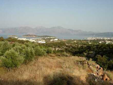 Baugrundstück mit Meerblick, 4101 m2, am Rande von Agios Nikolaos.