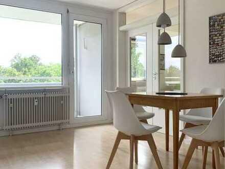 Blick ins Grüne: vollmöblierte 2-Zimmer Wohnung in ruhiger zentraler Lage