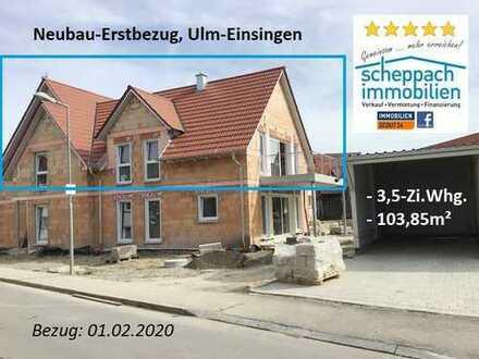 Neubau-Erstbezug im eigenen Stockwerk - Ulm/Einsingen! 01.02.2020