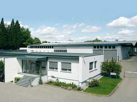Produktions-/Lagerhallen und Bürogebäude * Rampe und ebenerdige * Freifläche * Provisionsfrei *