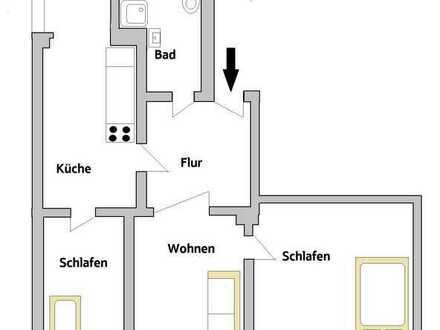 Gemütliche 3-Raum-Wohnung zum Wohlfühlen