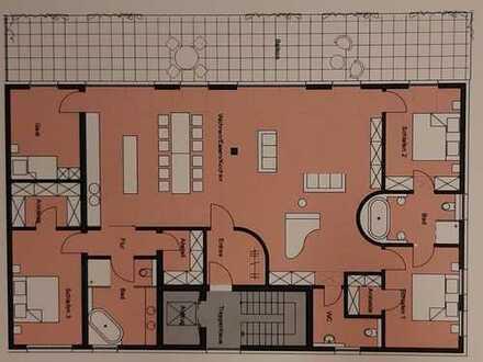 Erstbezug, 5 Zimmer Penthousewohnung in Nördlingen mit großem Balkon