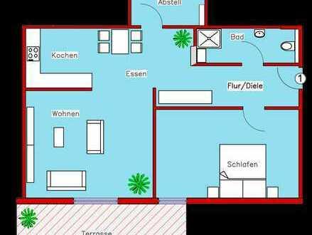 Erstbezug: Schönes Appartement mit Parkett, Einbauküche und Terrasse (R1)