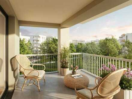 *Moderne Wohnkultur mit ausgezeichneter Planung* 2-Zimmer-Dachterrassenwhg. auf 57 m² mit Loggia