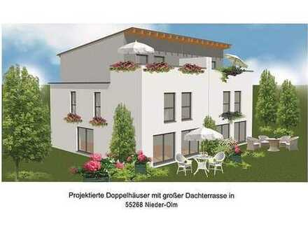 Monatlich ab 1034 € moderne Doppelhaushälfte in Nieder-Olm mit gefördertem Erbbaugrundstück