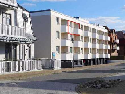 RESERVIERT ! TOP modernisierte, strandnahe 1-Zimmer-Wohnung mit West-Loggia