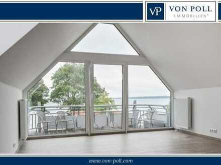 Moderne und neuwertige Dachgeschosswohnung mit Ostseeblick