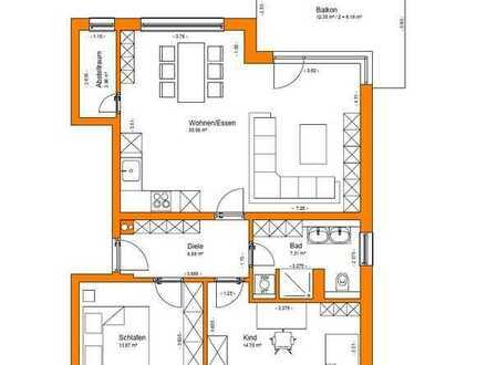 Exklusive 3-Zimmer-Wohnung mit Balkon in Freystadt