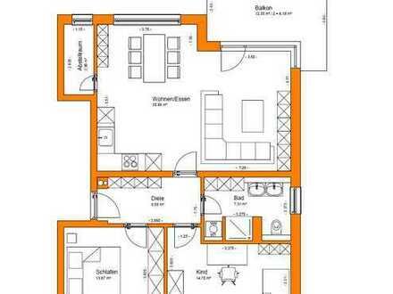 Erstbezug: exklusive 3-Zimmer-Wohnung mit Balkon in Freystadt