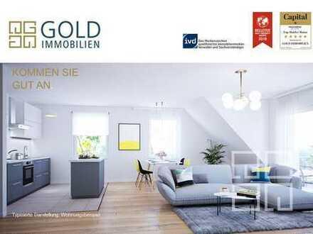 GOLD IMMOBILIEN: Moderne 2-Zi.-DG nahe des Schlossparks