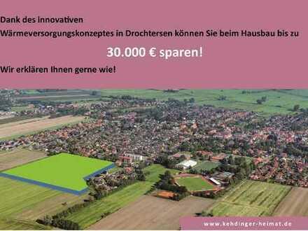 Drochtersen an der Elbe: Neubaugebiet! Dank innovativem Wärmekonzept beim Hausbau sparen!