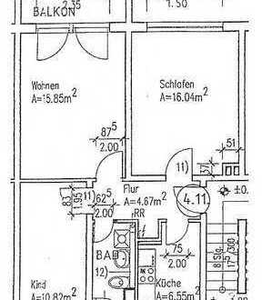 Miethöhe verhandelbar, Top-3-Raum-Wohnung, Parkett, Laminat und Fliesenfußböden.